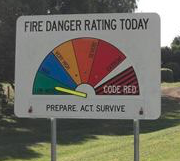 bushfire warning sign